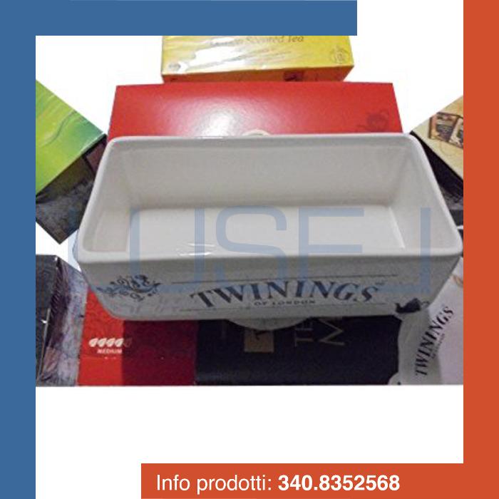 PZ 250 Selezione di the tisane e infusi Twinings con portabustine caddy in ceramica