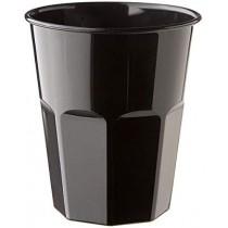 PZ 60 Bicchiere grande da cc 400 per cocktail in plastica rigida usa e getta nero black noir