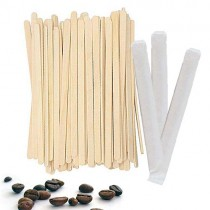 PZ 1000 Paletta da caffe' in legno imbustata singolarmente lunga cm 11