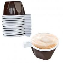 PZ 250 Tazzina bicolore per caffè con manico bicchiere in plastica da cl 10