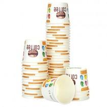 pz 100 bicchierino in carta decorato cl 8 per caffe per caffè da asporto