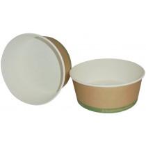 PZ 25 Ciotola rotonda in carta biodegradabile e compostabile contenitore biologico per alimenti