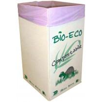 PZ 5 Contenitore portarifiuti in cartone + pz 20 sacchi compostabili biodegradabili per raccolta differenziata