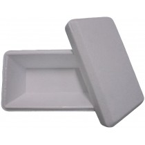 PZ 24 Vaschette per gelato bianco white termiche da ml 1500 in polistirolo per alimenti con coperchio