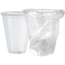 PZ 50 Bicchiere da ml 200 trasparente incartato singolarmente compostabile biodegradabile