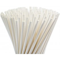PZ 300 Cannucce in Carta Bianche lunghe Biodegradabili e compostabili per granita cocktail e frappè