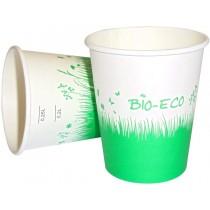 PZ 50 Bicchiere bio da cl 25 (8 oz) biodegradabile per cappuccino cioccolata calda caffe' americano