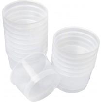 pz 36 bicchiere coppetta cc 180 in plastica trasparente per gelato yogurt formato piccolo plastic cup for ice cream