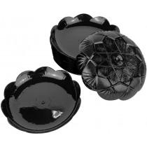 PZ 50 Vassoio nero black a stella decorato da 12,5 ideale per dolci, pasticcini e monoporzioni