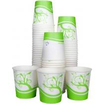 PZ 80 Bicchieri ml 120 in cartone termico compostabili biodegradabili