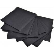 PZ 400 Tovaglioli due veli in ovatta nero black da cm 25x25 tovagliolo da bar salvietta paper napkin