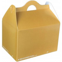 pz 25 astuccio avana in carta 20 x14 x 13h con manico per trasporto/asporto ideale per fritti