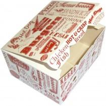 PZ 50 Porta crocchette formato piccolo in cartoncino per alimenti da asporto e fritti