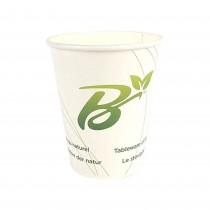 PZ 50 Bicchieri compostabili da ml 270 (9 oz) in cartone termico bianco