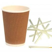 Kit Promozionale pz 1000 Palette in legno da cm 19 + pz 200 Bicchieri termici in cartone da ml 420