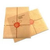PZ 1000 foglietti in carta antigrasso cm 18 x 25 marrone per piadina panini hamburger pizza e toast