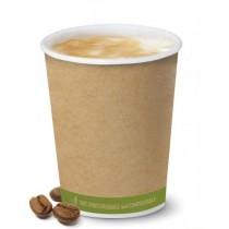 pz 50 bicchiere termico in carta ml 236 (8 oz) biodegradable and compostable per bevande calde come cappuccino e caffe