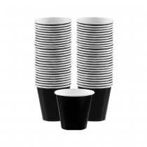 PZ 100 Bicchiere da cl 10 (4 Oz) in cartoncino nero black per caffè da asporto