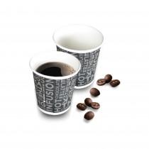 PZ 100 Bicchieri nero black da caffe' da cl 8 (3 Oz) in cartone per bevande calde