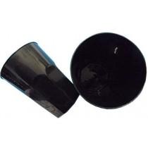 PZ 60 Bicchiere nero black piccolo da cc 270 in plastica rigida usa e getta per cocktail