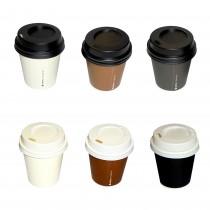 PZ 100 Bicchiere da cl 10 (4 Oz) in cartoncino per caffè da asporto + coperchio