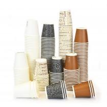pz 300 bicchieri in carta per caffe' 3 oz piccoli colori assortiti bicchierino