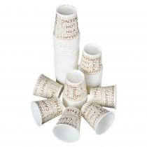 PZ 100 Bicchieri bianchi da caffe' da cl 8 (3 Oz) in cartone per bevande calde