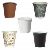 PZ 100 Bicchieri da caffe' da cl 8 (3 Oz) in cartone per bevande calde