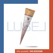 PZ 310 Cono Botticelli per gelato, cialda per gelato formato piccolo + pirottino in carta