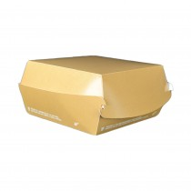 PZ 50 Box panino medio 12 x 12 x 7 cm in cartoncino color avana ideale per asporto di panini e fritti