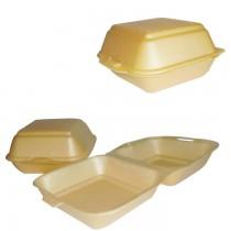 PZ 125 Porta hamburger e panini richiudibile in polistirolo per asporto alimenti