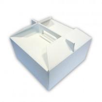 PZ 10 Box termico per torte gelato e semifreddi cm 17 x 17 alta cm 10 per asporto di dolci