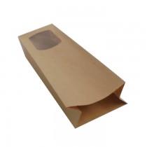 PZ 50 Sacchetto in carta con finestra busta astuccio per asporto alimenti