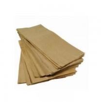 KG 10 Sacchetti in carta per alimenti, paper bag avana in carta kraft formato medio