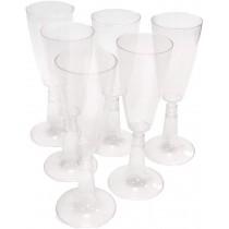 PZ 20 Calici compostabile per vino trasparenti con base trasparente