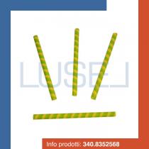 PZ 250 Cialda bicolore giallo/verde per gelato a forma di cannolo lungo per decorazione coppe gelato