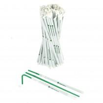 pz 400 cannucce biodegradabili imbustate singolarmente colore verde altezza 24 cm pieghevoli straight ideali per bevande, granite, coktail e succo di frutta