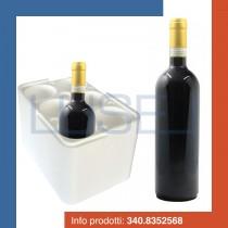 PZ 1 Cantinetta termica bianca quadrata porta bottiglie in polistirolo