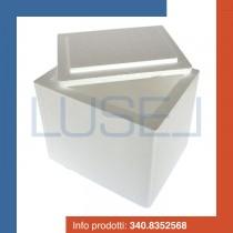 PZ 1 scatola porta alimenti 26 x 22 x20 rettangolare per l'asporto di alimenti freddi e caldi