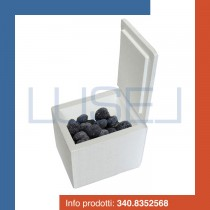 PZ 1 Scatola termica bianca quadrata porta tartufi e alimenti in polistirolo