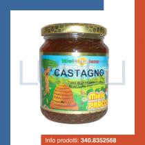 GR 500 Miele di castagno praconi 100 % italiano in vaso vetro chestnut natural honey sweetener dolcificante