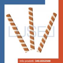 PZ 250 Cialde lunghe per gelato rettangolare schiacciata bicolore croccante