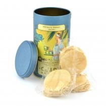 gr 120 di cialde di montecatini in barattolo, prodotto toscano prodotto dolciario da forno artigianale pz  20 mini cialde