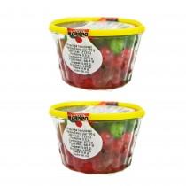 gr 400 di mix ciliegie rosse e verdi candite dolci,panettoni cassate e gelati