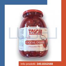 GR 1200 Cocktail cherries ciliegine rosse con gambo allo sciroppo candite