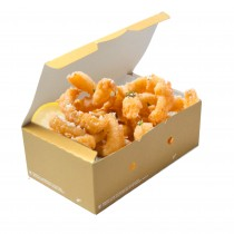 pz 50 box avana in carta 20x12x7h con coperchio ideale per l'asporto di fritti