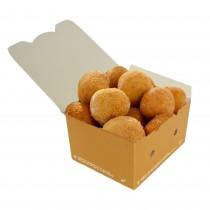 pz 50 box avana in carta 12x10x7h bio compost con coperchio richiudibile ideale per l'asporto di cibi,fritture,panini