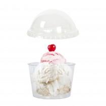 pz 50 coppette grandi trasparenti per gelato cc 400 + coperchio ideale per mousse e yogurt