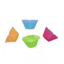 PZ 100 Coppetta in plastica colorata trasparente da cc 200 per gelato e yogurt
