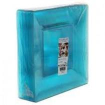PZ 25 Piatto piano blu trasparente quadrato per aperitivo apericena e happy hour